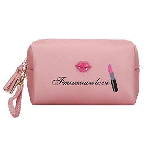 Sac de rangement pour maquillage portable Sac à cosmétiques étanche Sac de beauté L