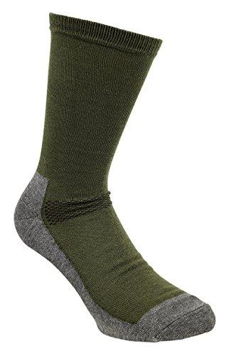 Pinewood coolmax-liner – Chaussettes unisexe, Vert/gris, 43-45