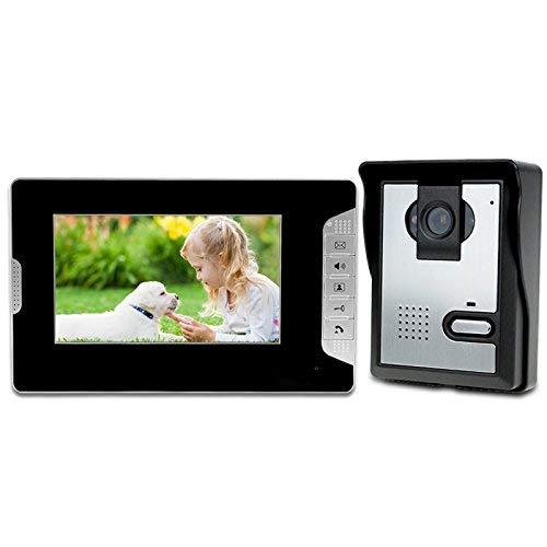 LIBO 7 Zoll Wasserdichte Video Gegensprechanlage verdrahtete Video Türsprechanlage Intercom Digital HD Monitor IR Nachtsicht Kamera für Haustür Eintrag System (Sicherheits-monitor-kamera)