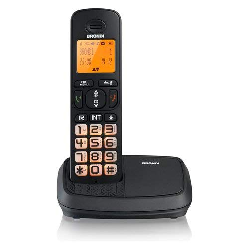 Brondi Bravo Rich Telefono Cordless, Nero