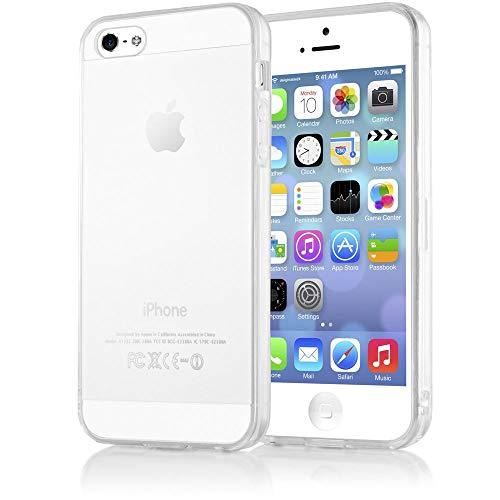 3f4ed26867e NALIA Funda Compatible con iPhone 5 5S SE, Ultra-Fina Protectora Movil  Carcasa Transparente