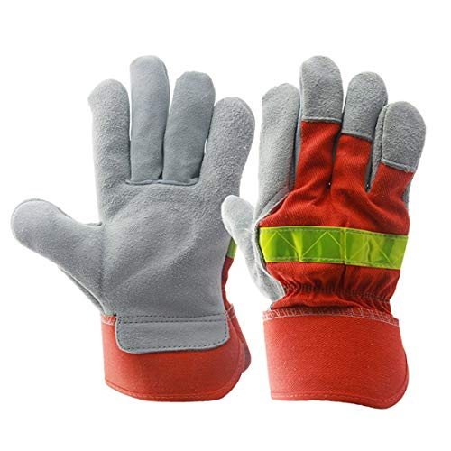 Safety Gloves Dependable 1 Pair Winter Warm Waterproof Working Gloves With Reflective Strip Anti Vibration Men Outdoor Work Gloves Extra Large Attractive And Durable