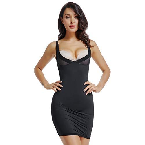 Woweny biancheria intima sexy corpetto per il corpo con corpino shapewear corsetto vita body shaper intimo modellante contenitivo donna nero l