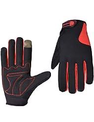 Souvent Bike pro-biker Écran tactile Smartphone de vélo coupe-vent chaud Outdoor Gants de gants, rouge, Medium
