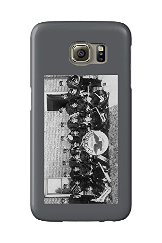 Woodland, California - Woodland Eagle Marching Band Posing (Galaxy S6 Cell Phone Case, Slim Barely There) Woodland Band