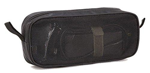 Multi-funktionale Reise Organisator Beutel Tasche Digitale Aufbewahrungstasche für Elektronikzubehör und Make-up-Werkzeuge Reise Zubehör - Schwarz-Maschenweite