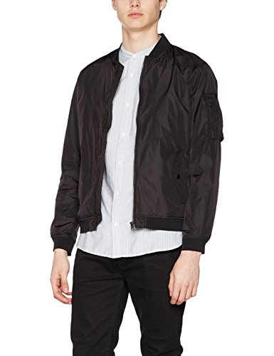 JACK & JONES Herren Bomber Jacke Jcojustin Jacket Noos, Schwarz (Black Fit:Bomber), Medium