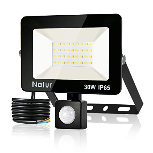 30W Foco LED con Sensor de Movimiento,Super Brillante 6000K Focos LED Exterior...