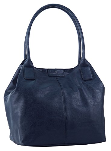 Tom Tailor Acc Damen MIRIPU Shopper, blau 50), 44x28x18 cm Colorblock Band