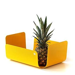 TEBTON UNIBODY1 (Gelb, Medium) formschöne Schale zu verwenden als Dekoschale oder Obstschale   Zeitloses Design Schon jetzt EIN Klassiker