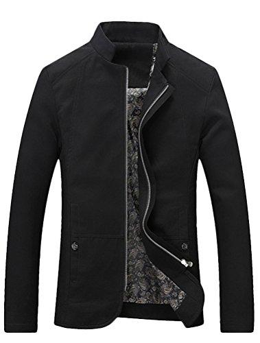 MatchLife Herren Classics Bomberjacke Basic Übergangsjacke Jacke mit Stehkragen Schwarz S
