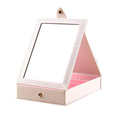 Table pliante Cosmetic Containers pour les petites choses (blanc, 14x11x5 cm)
