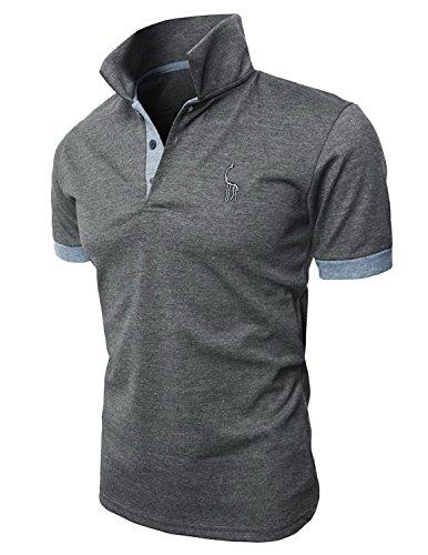 5f88f7e42434 Zum Shop · STTLZMC Poloshirts Herren Basic Kurzarm Polohemd M-XXL, Grau, XL
