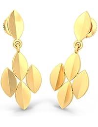 BlueStone 18k (750) Yellow Gold Drop Earrings