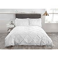 Blanco Pliegues Mezcla Algodón Individual (BLANCA LISA Sábana bajera - 91 x 191cm + 25) 3 piezas Juego de cama
