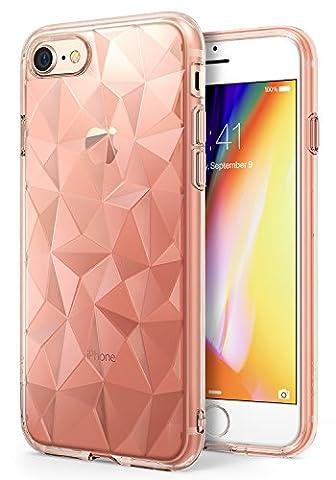 iPhone 7 / iPhone 8 Hülle, Ringke AIR PRISM 3D, ultra chic dünn schlang geometrisches Muster flexible Kompletthülle texturiert schützend TPU Fall geschützt Cover für das Apple iPhone 7 – Rosengold