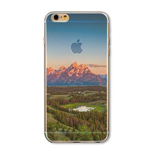 Coque iPhone 7 Plus Housse étui-Case Transparent Liquid Crystal en TPU Silicone Clair,Protection Ultra Mince Premium,Coque Prime pour iPhone 7 Plus-Paysage-style 11 24