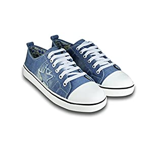 BEONZA Women's Denim Sneakers