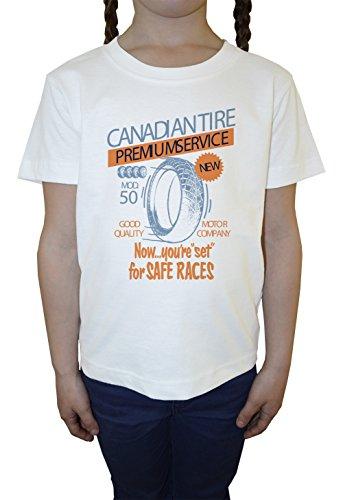 canadian-tire-bambini-ragazze-t-shirt-girocollo-bianco-cotone-maniche-corte-girls-kids-t-shirt-white