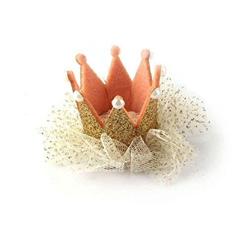 Malloom® Heißer Verkauf Baby Mädchen Krone Perle Prinzessin Haarclip Party Zubehör (gold) (Verkauf Prinzessin Für Krone)