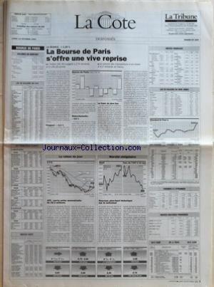 COTE (LA) du 18/10/1993 - BOURSE DE PARI...