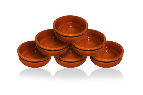 Tivoli Tapas Set de 6 piezas/15cm/Simplemente Hermoso/Terracota/Añade clase y personalidad a su mesa
