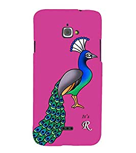 99sublimation Awesome cute Pink Alphabet letter R Peacock Painting Art Designer Back Case Cover for InFocus Bingo 50