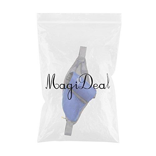 MagiDeal Nylon Marsupio Bum Bag Porta Bottiglia D'acqua Telefono Pouch Adatto Per Viaggiare Ciclismo Accesorio All'aperto - Blu Blu