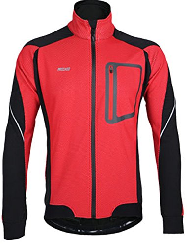 Lakaka-EU Regenjacke Langarm Herren Thermo Winter Sportjacke Radfahren Fahrradkleidung Winddicht Atmungsaktiv Fleece Radsport Jacke