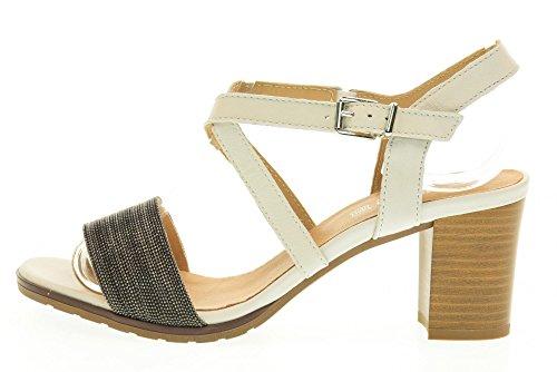 IGI&CO scarpe donna sandali con il tacco 78421/00 Bianco