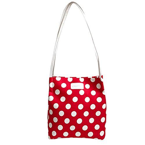 HCFKJ Wave Point Schultertasche Handtasche Einfache Schultertasche Frauen Umhängetasche Mode (Rot #Wellenpunkt)