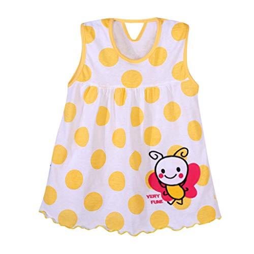 Sonnena Mädchen Mode Cartoon Blumen Kinder Dot Floral Tees Kleid T-Shirt Weste Sommerkleider Hochzeit Party Geburtstag Outfits Strandkleid Kleidung