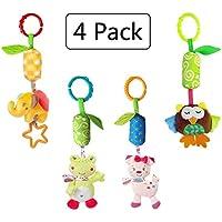 4 Paquetes Bebé Sonajero para bebés Juguetes Cochecito para bebés Cochecito Juguetes campanas con Timbre Bell