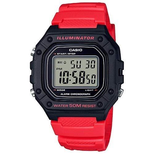 casio orologio digitale quarzo uomo con cinturino in resina w-218h-4bvef