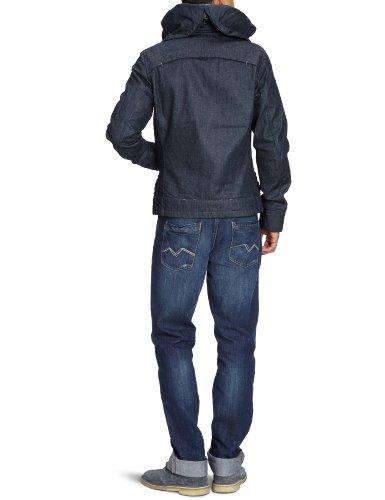 G-STAR Herren Jacke New Comic Hooded Jckt Blau (tumble raw  3015)