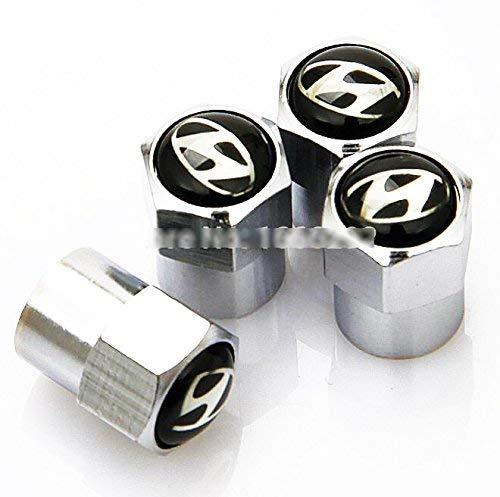 Valve de bouchon anti-poussière de pneu de voiture Hyundai en chrome métallisé