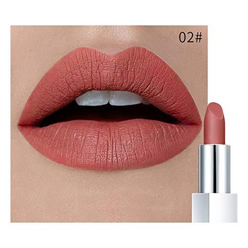 (Mitlfuny Beauty Makeup,Wasserdichter Lippenstift-Mattkürbis-Farben-Lippenstift Essen die Erde reiches Vitamin E Moistu)