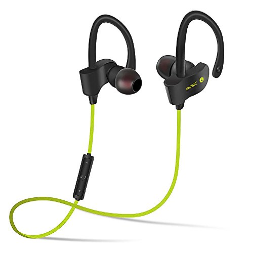 Normia Rita Bluetooth Headphones, Best Wireless Ear Hanging Sports Earphones with Mic Sweatproof HD Stereo Sweatproof Earbuds for Gym Running Workout 6 Hour Battery Noise Cancelling Headsets - Giallo