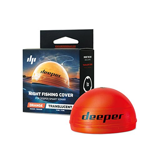Deeper Uni Night Cover Fischfinder, Orange, One Size