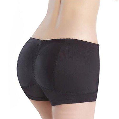 Toweter Donne shapewear anca e Culo Imbottito Panty (L(Vita=61-65cm), Pizzo Nero)