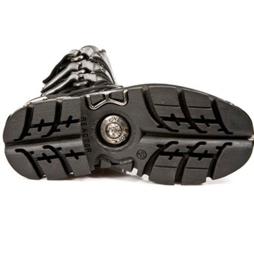 New Rock Boots Unisexe Botte - Style 474 S1 Noir Noir