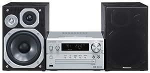 Panasonic SC-PMX5EG-S Micro HiFi-System (3-Wege-Bassreflex-Lautsprecher, 120 Watt, iPod / iPhone Dock, CD, USB)