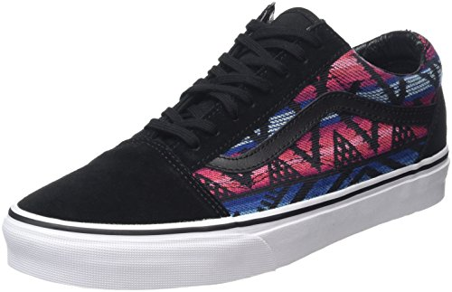 Vans Old Skool, Sneakers Basses Mixte Adulte, Multicolore (Moroccan Geo Black/True White), 35 EU