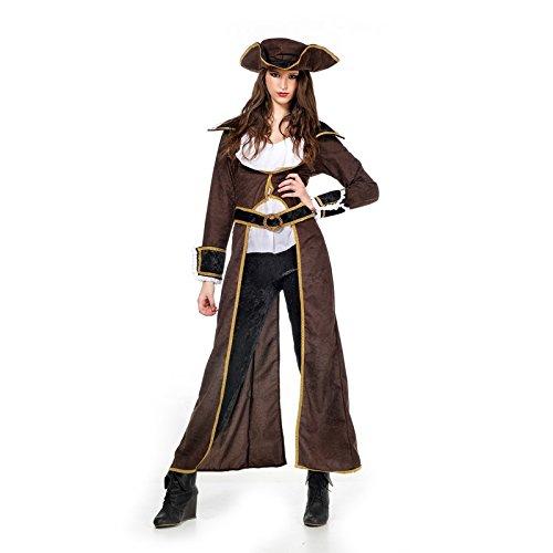 Musketiere Für Kostüm Damen - Musketier Lady Kostüm Damen 4-tlg. braun weiß - S