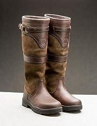 Mountain Horse Devonshire–Botas de Piel impermeable para mujer, color marrón oscuro, color marrón oscuro, tamaño 42