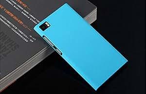 For Xiaomi Mi3 Hard Case Case Back Cover Matte Rubber Velvet Finish for mi 3 - Sky Blue