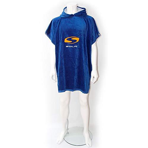 Sola Erwachsene mit Kapuze Strand ändern Robe Strand Poncho Handtuch Schwimmen Surf (Sola Adult Black/Grey 90cm) -