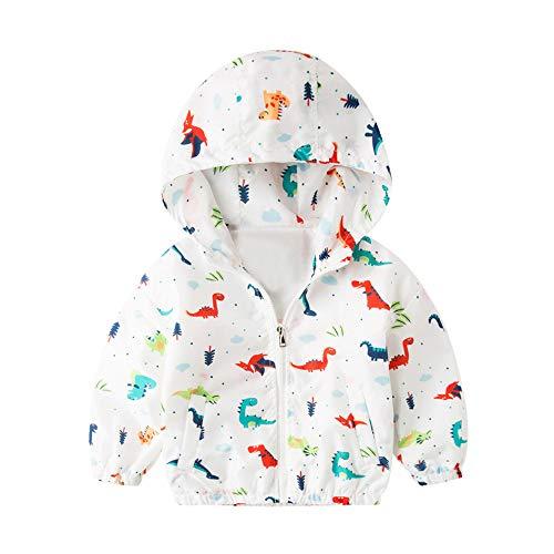 MEIbax Kinder Jacke Dinosaurier Baby Oberbekleidung Mantel Jungen Mädchen mit Kapuze Winterjacke Outerwear Kleidung