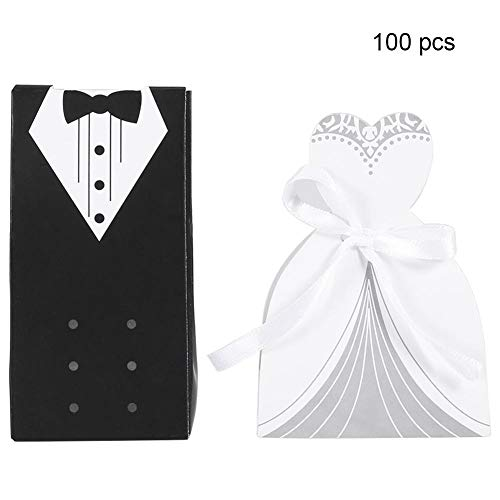 Boquite Elegante romantische Pappsüßigkeit-Kasten-Hochzeitsfest-Geschenk-Dekoration(#2)