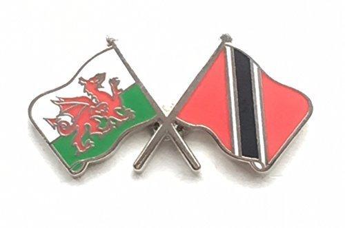 Wales & Trinidad und Tobago Flaggen Freundschaft Höflichkeit Emaille Pin-Anstecker (Trinidad Tobago-embleme Und)